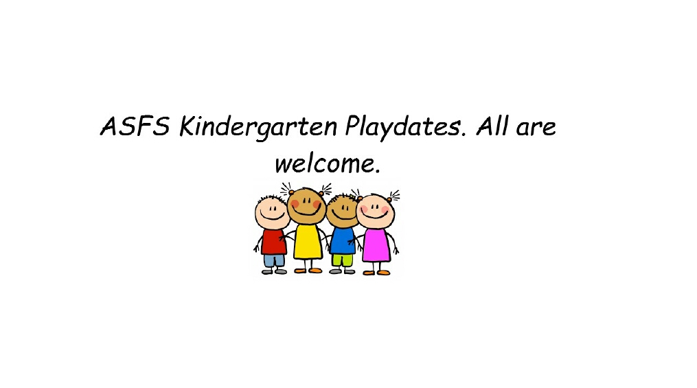 ASFS Summer Kindergarten Playdate Schedule