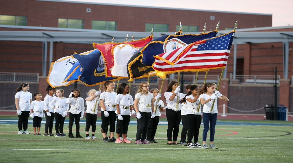 ASFS Color Guard Performs at W&L Homecoming Football Game
