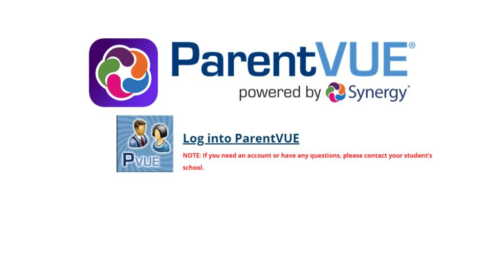 New ParentVUE URL